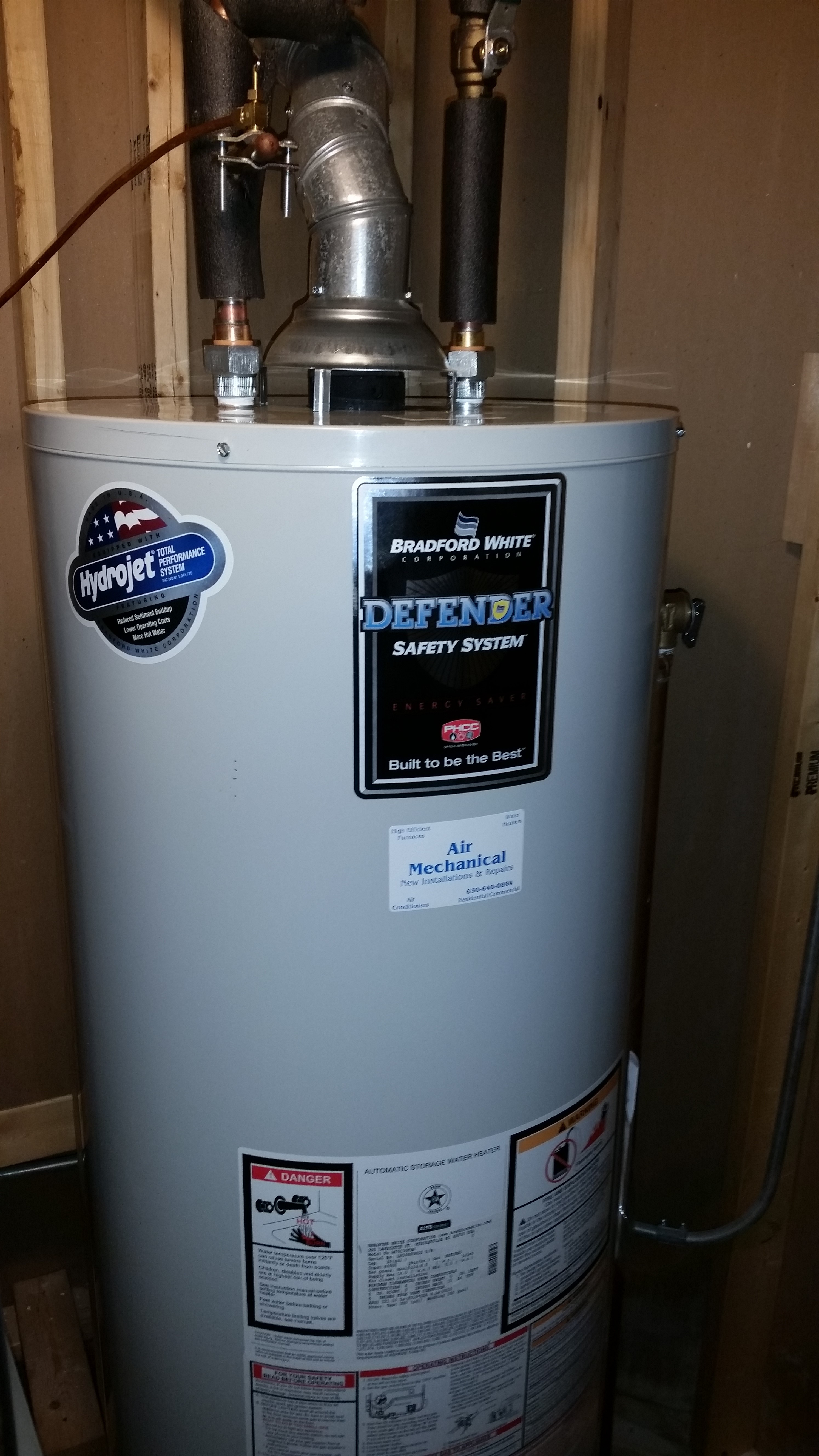 Bradford White Hot Water Heaters Air Mechanical Inc